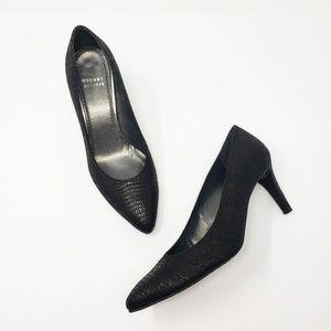 Stuart Weitzman Snake Black Heels